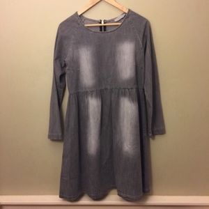 Nana Italian Heart Gray Denim Dress